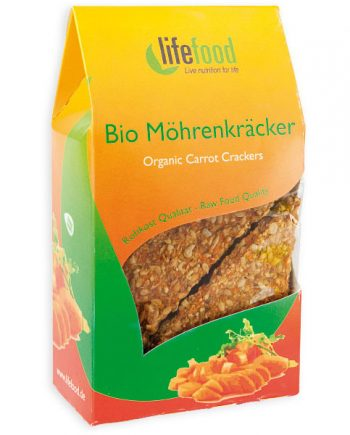 Wortel lijnzaad crackers Lifefood